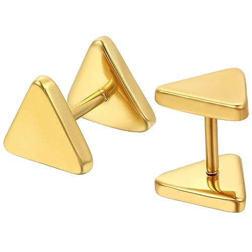 Jewelrywe Joyería Pendientes Triángulo, Zarcillos Aretes de ...