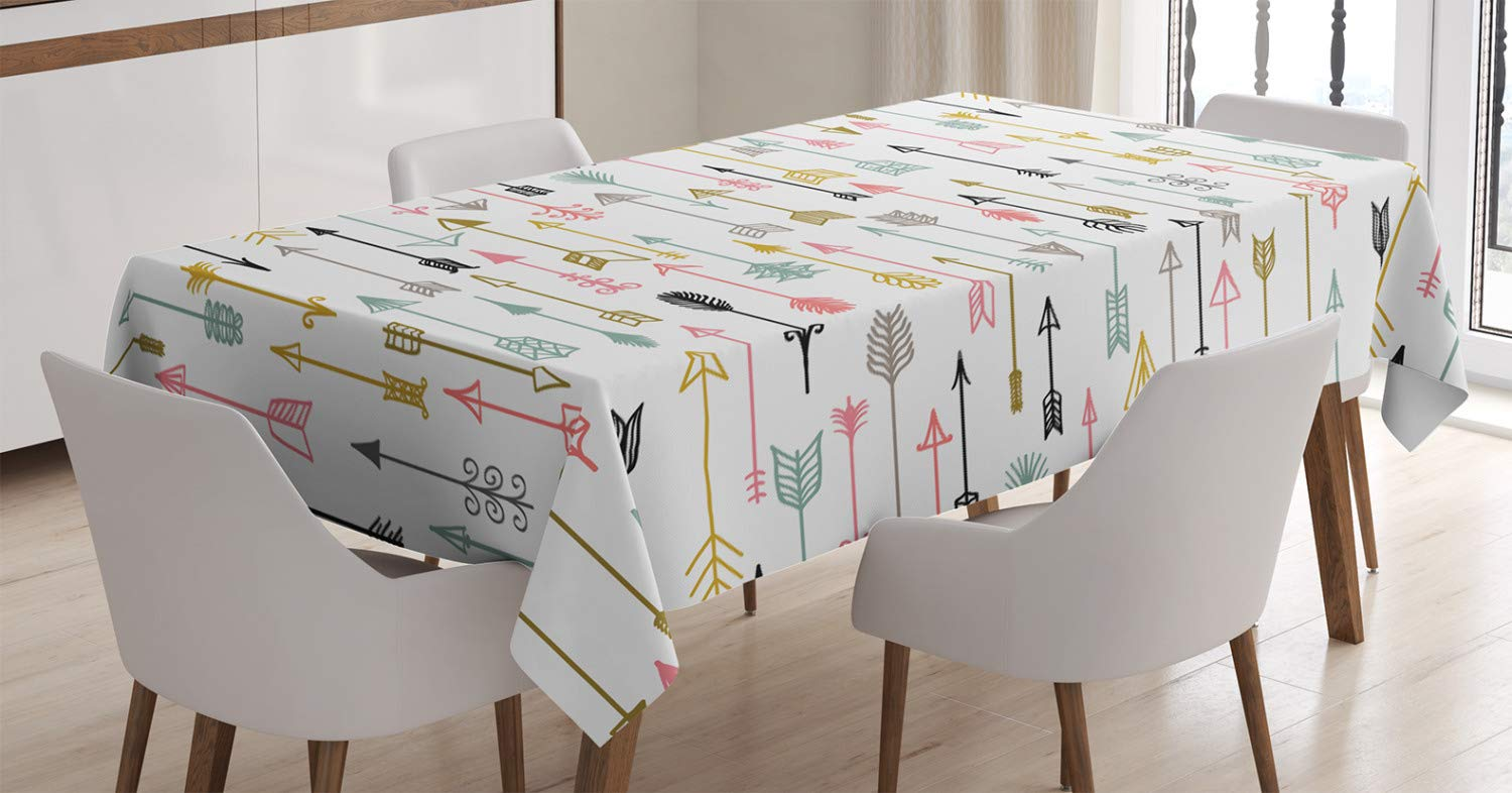 60 X 84 Inches Flag of the US State of Maryland Closeup Picture Waving America National Ambesonne American Decor Tablecloth by Dining Room Kitchen Rectangular Table Cover
