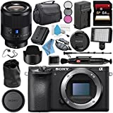 Sony Alpha a6500 Mirrorless Digital Camera (Body) ILCE6500/B + Sony Planar T FE 50mm f/1.4 ZA Lens SEL50F14Z + NP-FW50 Replacement Lithium Ion Battery + Deluxe Cleaning Kit Bundle