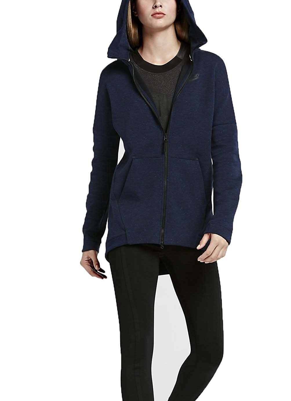 e427006ae998 Amazon.com  Nike Women s NSW Tech Fleece Knit Cape Full Zip HOODIE JACKET  (S)  Sports   Outdoors