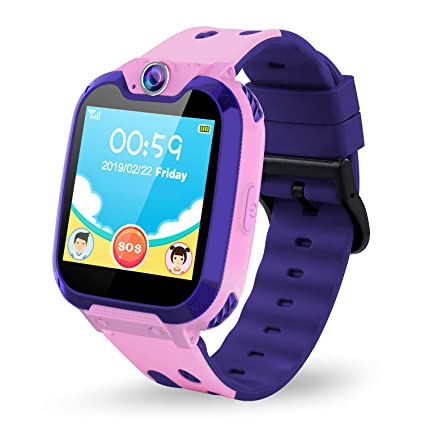 Themoemoe Kids Smartwatch Phone, Kids Music Watch Without GPS with Camera Music 7 Games Alarm Birthday Gift for Kids 3-14 Year Old (Pink)