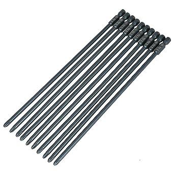 Broca para destornillador, 10 piezas S2 Cabeza de cruz de acero PH2 ...