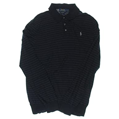Polo Ralph Lauren Mens Signature Striped Polo Shirt Navy XS
