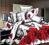 16goodmall 3d Rose Marilyn Monroe 4 Piece Bedding Set Queen Size 4 Pieces
