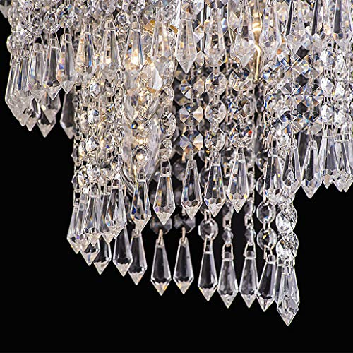 JHFUH 30Pcs Acrylic Crystal Clear Garland Hanging Bead Curtain Wedding Party Decoration for Porch Chandelier Lampshade Decoration