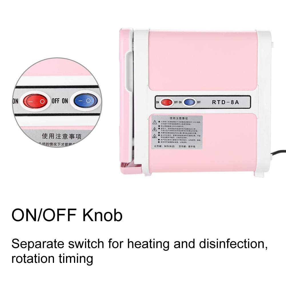 Sterilizer Cabinet, Mini Towel Warming Disinfection Cabinet Heating Sterilization Machine for Spa Massage Tools, Clothing, Towel (Pink) by TMISHION (Image #5)
