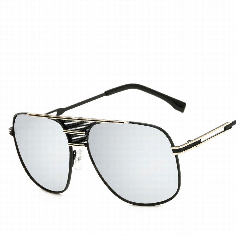 Mode-Frosch-Gläser Großen Rahmen Metall Retro-Sonnenbrille Damen Sonnenbrille , Schwarzer Rahmen Ganz Grau
