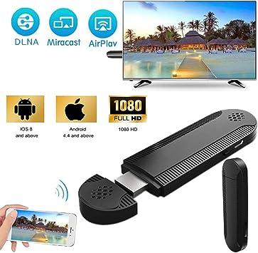 Adaptador HDMI inalámbrico Velidy, Receptor de Pantalla de 1080P, iPhone iPad a TV Miracast Dongle, Compatible con Windows, Android/iOS, Smartphone, Tableta, iPhone, iPad, Ordenador portátil: Amazon.es: Electrónica