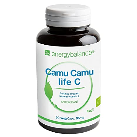 Camu-Camu life C | Vitamina C ecológica | alta calidad ecológica certificada | vegano | sin gluten | 90 VegeCaps