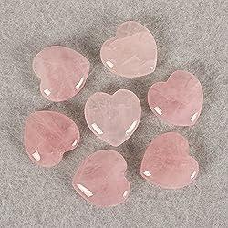 Natural Crystal Heart-shaped Stone Rose quartz Gemstone love Stone Crystal Craft decor