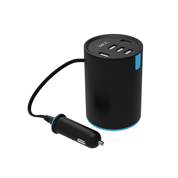 iXCC 50 W 10 A rápido Cargador de Coche de 5 Puertos USB Multi ...