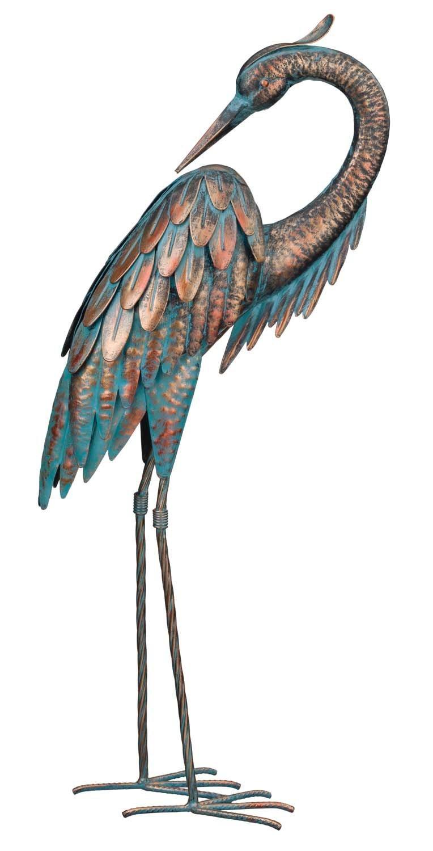 Regal Art & Gift Patina Heron Preening, 25''