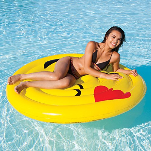 [Kids Teens Playtime Summer Fun SET of 2 Pool Lake Beach Fun Play Outdoor with Intex Pump Emoji Float] (Homemade Dragon Costumes Ideas)