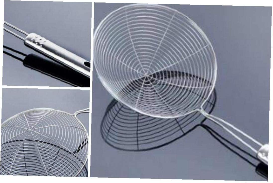 asdfwe Acero Inoxidable Ara/ña Skimmer Colador Resistente Calor Larga S/ólida Manija para Cocina Colador para Fre/ír Los Alimentos Skimmer Cuchara Colador