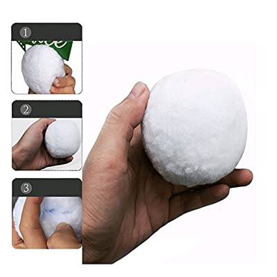 C&G Typhoon 100 Pack Fake Snowball - Indoor Snowball Fight Anytime - Family Snowtime - Party Snow Fight Games Any Season - Safe, No Mess, No Slush, No Fur Loss: Toys & Games