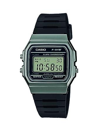 44a3870af9bc Casio Unisex Digital Quartz Watch with Resin Strap F-91WM-1BEF   Amazon.co.uk  Watches
