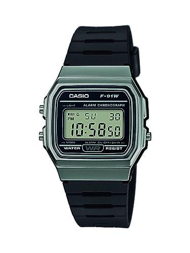 Casio Reloj Digital para Unisex de Cuarzo con Correa en Resina F-91WM-1BEF: Amazon.es: Relojes