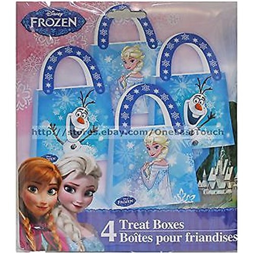 Disney Frozen Treat Boxes - Elsa & Olaf - Total of 8 Party Favor/Treat Boxes