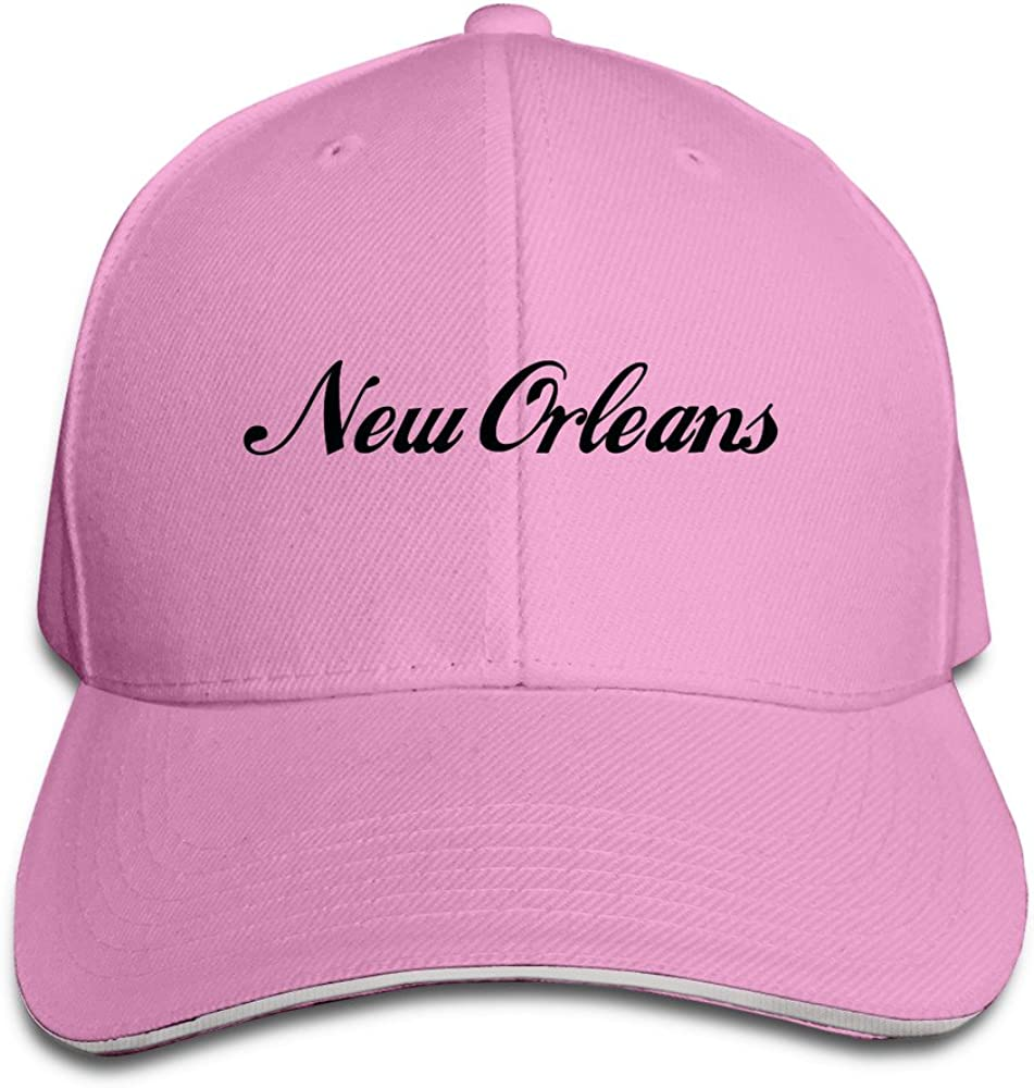 Men's Louisiana New Orleans City Washed Twill Sandwich Caps Hats