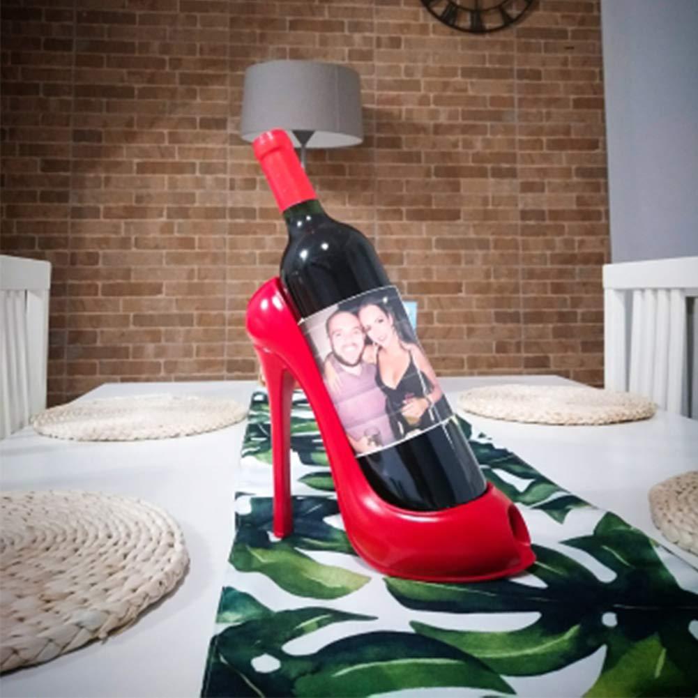 WLXW Bar Creativo Estante de Vino de Forma de Tacón Alto Artesanía ...