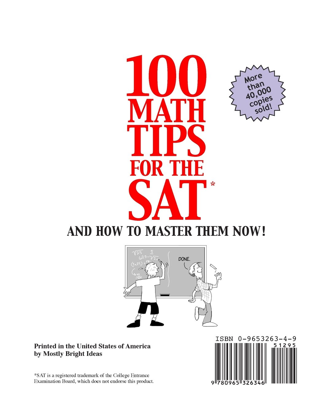 100 Math Tips for the SAT: And How to Master Them Now!: Charles Gulotta,  Trish Dardine: Amazon.com.mx: Libros