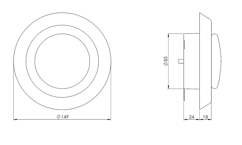 v/álvula de techo V/álvula de plato de 100 mm de di/ámetro con pinzas rejilla de ventilaci/ón de pl/ástico ventilaci/ón de aire de salida