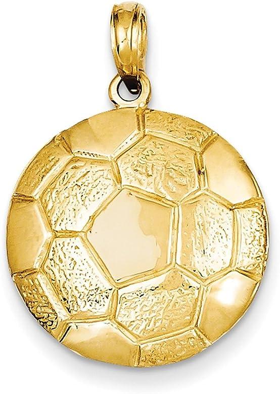 Lex & Lu LAL77666 - Colgante de pelota de fútbol de oro amarillo ...