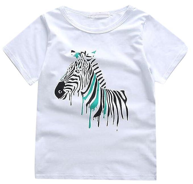 MLG Little Boy Fashion animales impreso cebra camiseta camisetas: Amazon.es: Ropa y accesorios