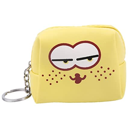 Widewing Monedero de Cuero de Dibujos Animados Lindo Monedero Monedero Mini Embrague-Amarillo