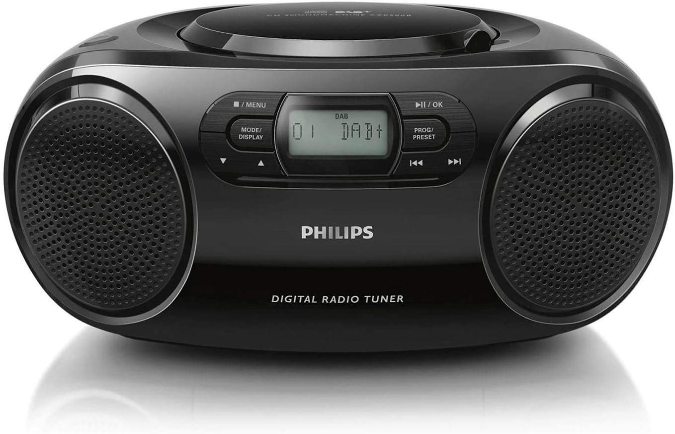 Black Portable CD player DAB,DAB+ Top 7.62 cm External Philips AZB500 Portable CD player Black AZB500
