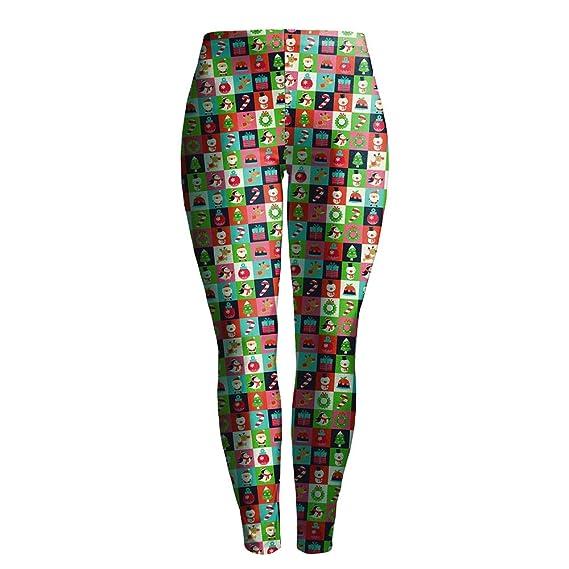 Mujeres Navidad Impresiones Leggings, Elástico Leotardos Pantalones ...