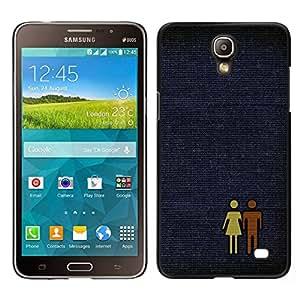 EJOY---Cubierta de la caja de protección para la piel dura ** Samsung Galaxy Mega 2 ** --Hombre Mujer Pareja Amor Par Arte Gráfico Aseo