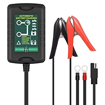 6V 1A Vollautomatische Ladegerät Batterieladegerät für KFZ PKW Auto Motorrad