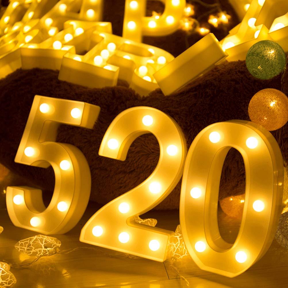 con Luces LED alimentadas por Pilas 0 0 Lispeed Letter Alfabeto decoraci/ón Superior en Luces de Madera Alfabeto Letras Blanco c/álido MDF