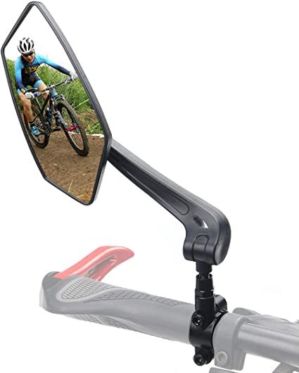 Bicycle Handlebar Rear View Mirror Bike Adjustable Cycling MTB Reflector Safety