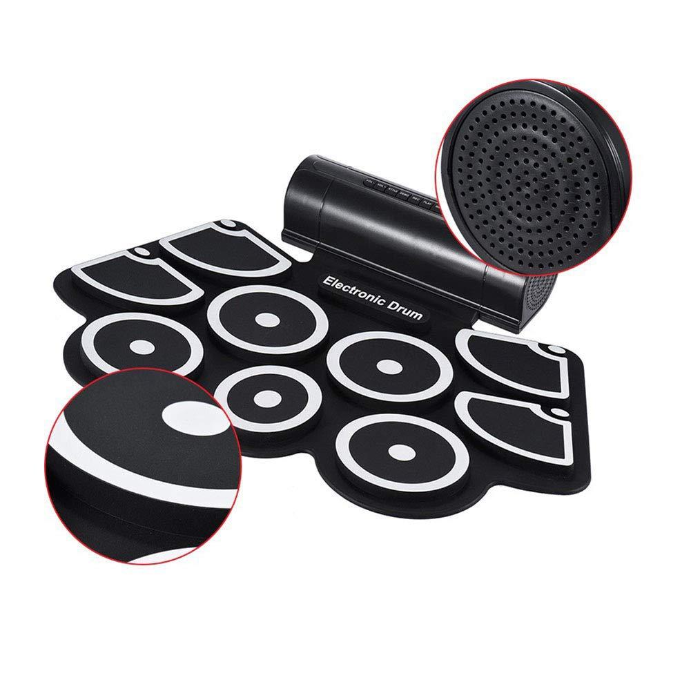 NUYI-4 Instrumentos de percusión Gruesos Rollos de Silicona Mano Tambores Tambores electrónicos USB