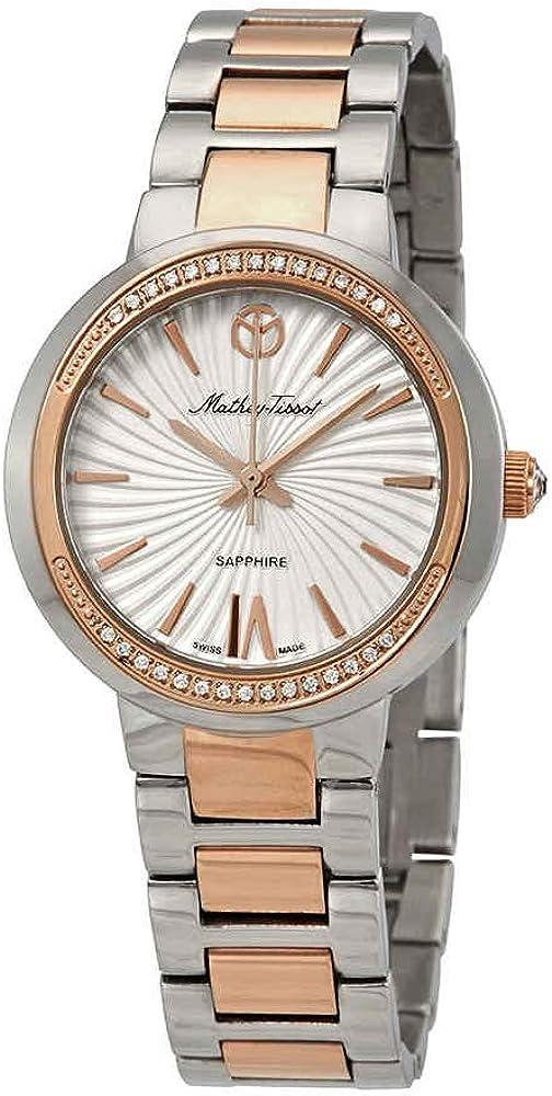 Mathey-Tissot Lucrezia - Reloj para Mujer, Esfera Blanca, Cristal D3082RA