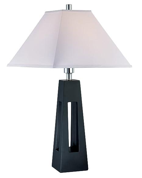 Amazon.com: Lite Fuente ls-21576 lámpara de mesa, negro ...