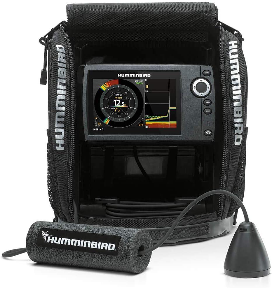 Humminbird 411180-1 Helix 5 Chirp G2 Ice Fishfinder, Sonar System, Dual Spectrum Chirp