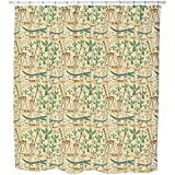 Uneekee Savanna Shower Curtain: Large Waterproof Luxurious Bathroom Design Woven Fabric