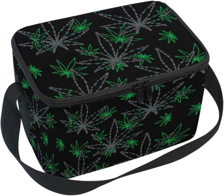 Ahomy Marijuana Cannabis - Bolsa de Almuerzo con Cremallera para Hombres y Mujeres