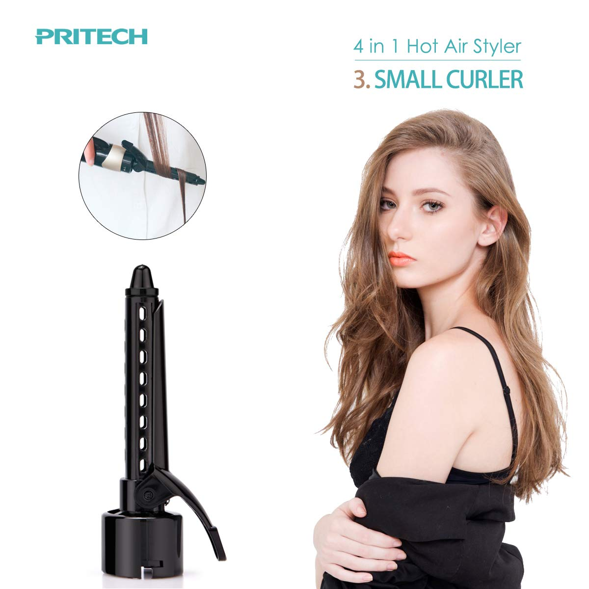 PRITECH 4 in 1 Hair Dryer Hot Air Brush Women Styling Tools Hairdresser Set Hair Diffuser For Professional Salon Curler Multifunction Stylist Straightener ...