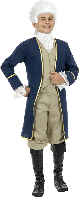 Charades Child's George Washington Costume, As Shown, X-Large