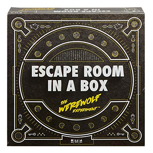 Halloween Games To Play At Home (Escape Room in a Box: The Werewolf Experiment, Board Game for Adults and Kids)