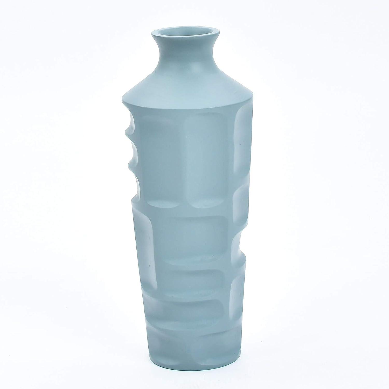 Legno di Mango Blu 15x 41 cm Leewadee Piccolo Vaso da Terra per Rami Decorativi Vaso da Interno Vaso Centrotavola