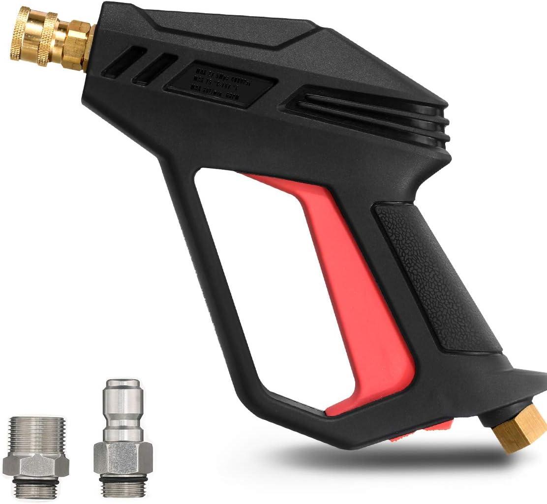 "MATCC Pressure Washer Gun 4000 PSI 2020 Upgrade Version Car Power Washer Gun with M22-14 mm and 3/8"" Quick Inlet Connector for Car High Pressure Power Washer"