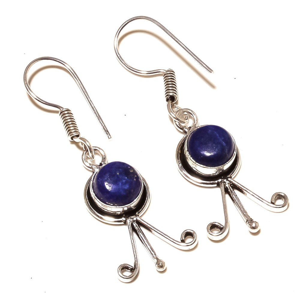 Best Online Jewelry Blue Lapis Sterling Silver Overlay 5 Grams Earring 1.75 Long