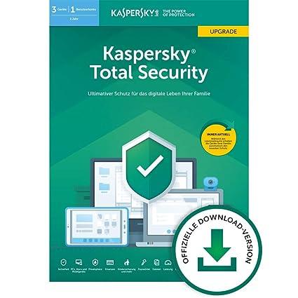 Kaspersky Total Security 2019 Upgrade   3 Geräte   1 Jahr   Windows/Mac/Android   Online-Code   Download