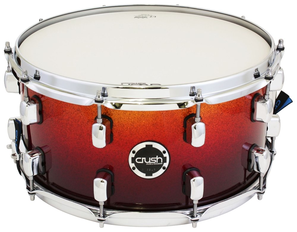 Crush/クラッシュ S3MS14X7/704 Orange/Red Sparkle Fade SUBLINE MAPLE E3シリーズ スネアドラム   B00E3RLJWE
