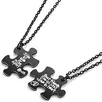 MANIFO Friendship Puzzle Necklace Alloy BFF Best Friends Pendant Necklaces for Friend of 2